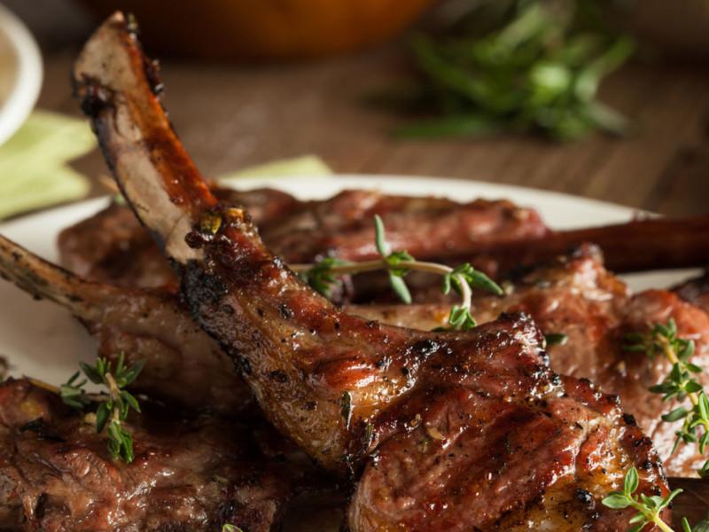 Garlic-Ghee Lamb Chops